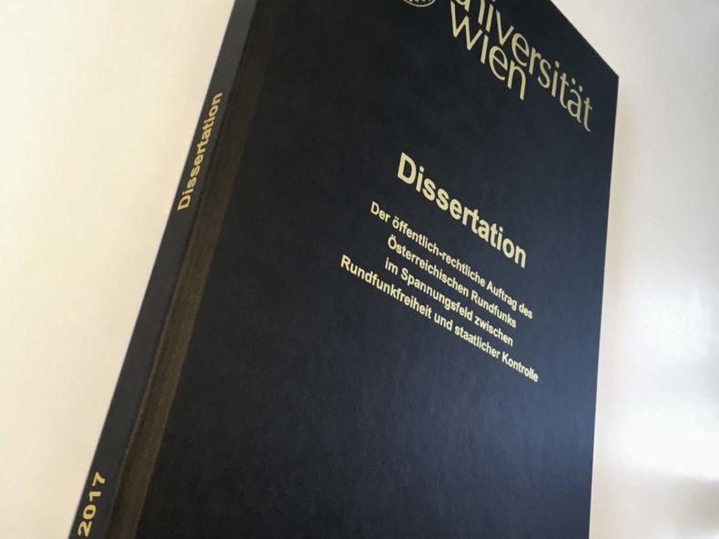 Dissertation über den öffentlich rechtlichen Auftrag des ORF